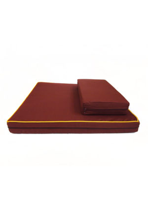 2-Pieces Large Meditation Cushion in Reddish Brown III