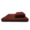 2-Pieces Large Meditation Cushion with Lotus Embroidery III