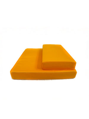 2-Pieces Meditation Cushion in Yellow III