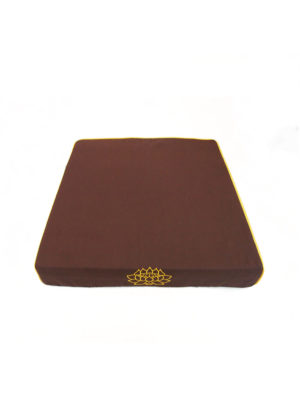 Sloping Meditation Cushion with Lotus Embroidery I