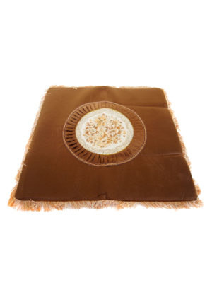 Square Embroidery Mat in Brown II