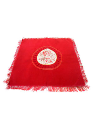 Square Embroidery Mat in Red II