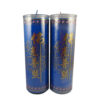 Cylinder Shortening Candle Lamp in Blue (Large)