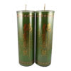 Cylinder Shortening Candle Lamp in Green (Large)