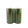 Cylinder Shortening Candle Lamp in Green (Medium)