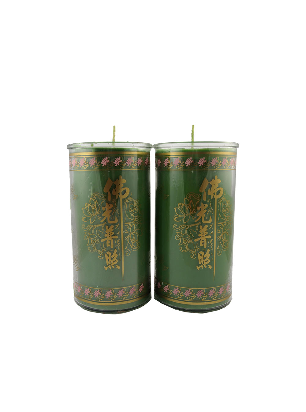 Tube shortening candle lamp in green medium ren ting for Candle painting medium