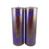 Cylinder Shortening Candle Lamp in Purple (Large)