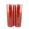 Cylinder Shortening Candle Lamp in Red (Large)