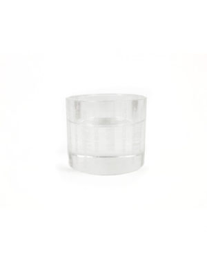 Engraved Heart Sutra Crystal Candle Holder 1
