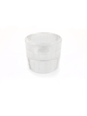Engraved Heart Sutra Crystal Candle Holder 2