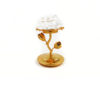 Glass Lotus with Golden Stem Candle Holder 1