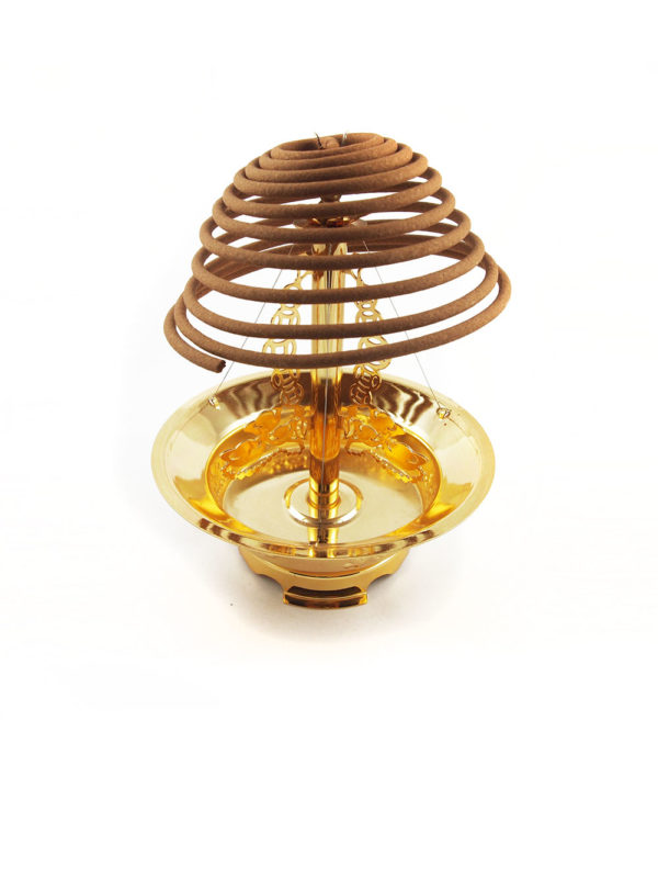 Golden Coil Incense Burner III