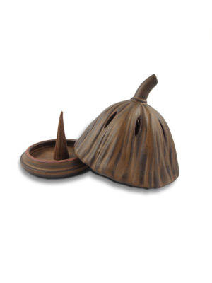 Inverted Lotus Seed Pod Incense Burner 2