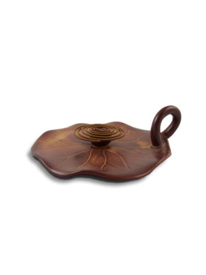 Inverted Lotus Seed Pod on Leaf Incense Burner 5