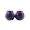 Lotus Embossed Shortening Candle Lamp in Purple (Small)