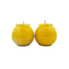 Lotus Embossed Shortening Candle Lamp in Yellow (Small)