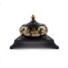 Lotus Embossed with Rectangular Stand Incense Burner I