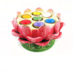 Lotus-shaped Seven Candles Holder 3