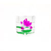 Printed Lotus Crystal Candle Holder 1