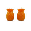 Prosperity Shortening  Candle Lamp in Orange (Small)