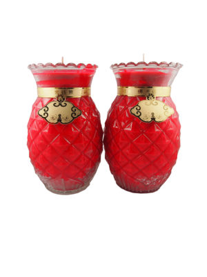 Prosperity Shortening  Candle Lamp in Red (Large)