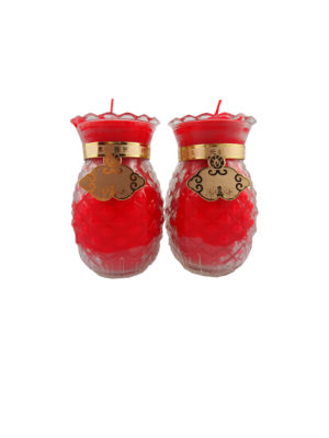 Prosperity Shortening  Candle Lamp in Red (Medium)