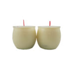 Shortening Candle Cup in White