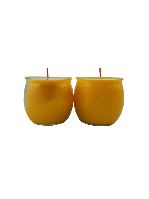 Shortening Candle Cup in Yellow