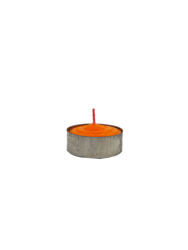 Tealight Shortening Candle in Orange