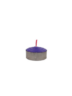Tealight Shortening Candle in Purple