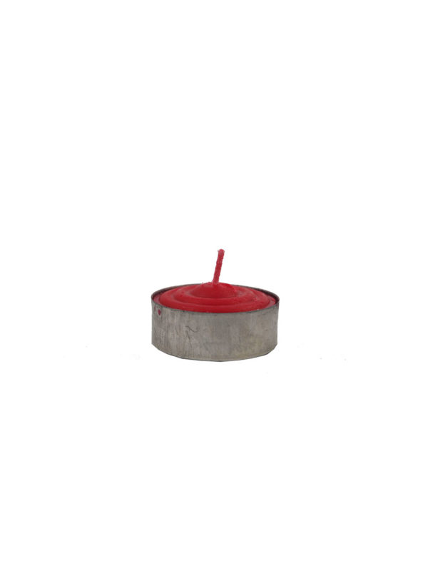 Tealight Shortening Candle in Red