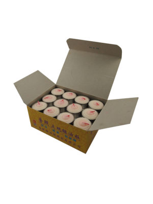 Tealight Shortening Candle in White (Box)