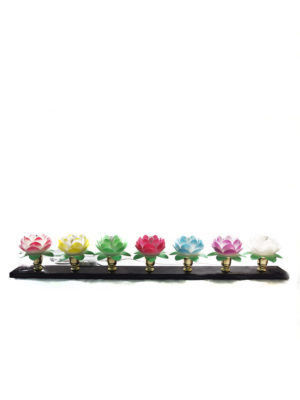 7-colours Injection Moulding Plastic Lotus Lamp 1