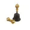 Black with Gold Vajra & Bell Set (Big) 1