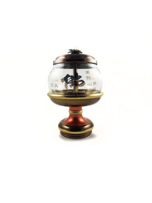 Bronze Lid Oil Lamp 1
