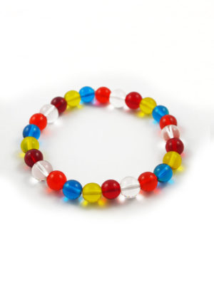 Colours of Buddha Flag Bracelet (8mm) 2
