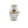 Eight Auspicious Items Colour Glazed Glass Oil Lamp 1