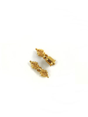 Mini Gold-plated Vajra & Bell Set Charm (2.5cm) 2