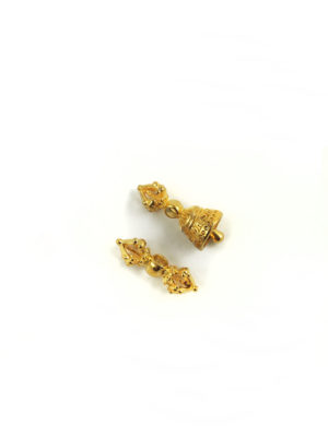 Mini Gold-plated Vajra & Bell Set Charm (2cm) 2