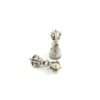 Mini Nickel-plated Vajra & Bell Set Charm (2cm) 1