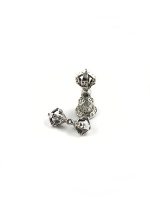 Mini Nickel-plated Vajra & Bell Set Charm (3.5cm) 1