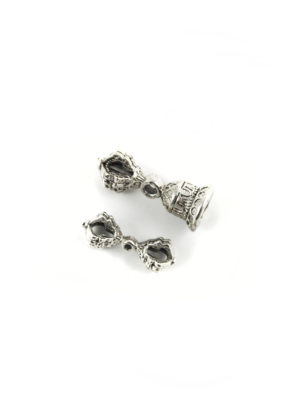Mini Nickel-plated Vajra & Bell Set Charm (3.5cm) 2