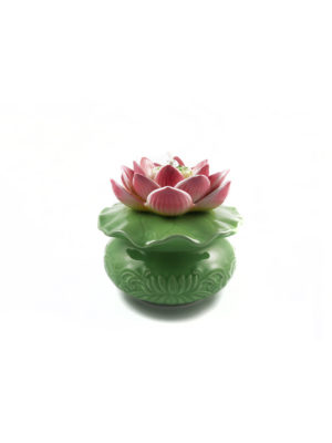 Porcelain Lotus Oil Lamp I