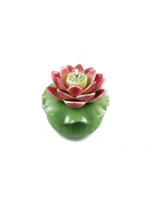 Porcelain Lotus Oil Lamp II
