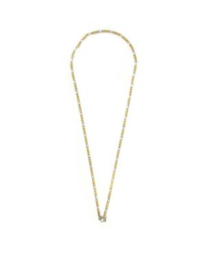 Gold-and-Silver-Stainless-Steel-Chain-One-Hook-Amulet-Necklace-1-64cm-1