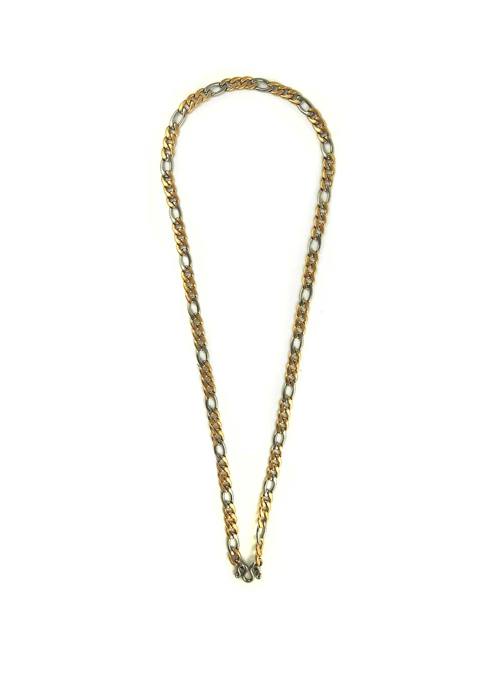 Gold and Silver Stainless Steel Chain One Hook Amulet Necklace #1 (67cm) -  Ren Ting Online