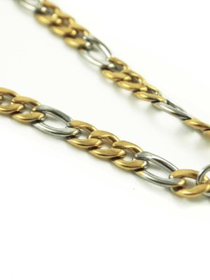 Gold-and-Silver-Stainless-Steel-Chain-One-Hook-Amulet-Necklace-1-67cm-2