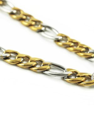 Gold-and-Silver-Stainless-Steel-Chain-One-Hook-Amulet-Necklace-1-70cm-2
