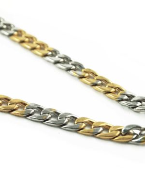 Gold-and-Silver-Stainless-Steel-Chain-One-Hook-Amulet-Necklace-2-69cm-2