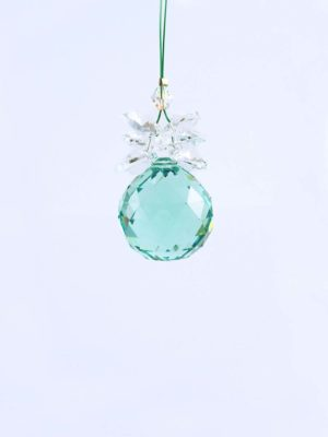 Swarovski-Antique-Green-Ball-Suncatcher-20mm-with-Crystal-Hearts-1
